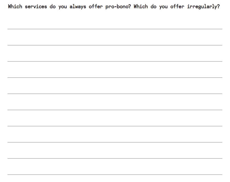 Pro bono insurance policy 4